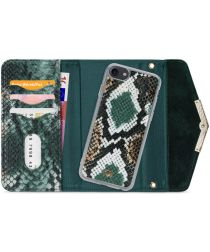 Mobilize Velvet Clutch Apple iPhone SE 2020 / 8 / 7 Hoesje Green Snake