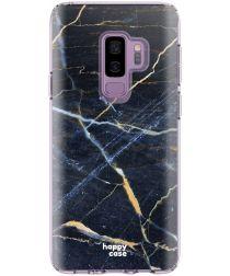 HappyCase Samsung Galaxy S9 Plus Flexibel TPU Hoesje Donker Marmer