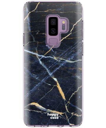 HappyCase Samsung Galaxy S9 Plus Flexibel TPU Hoesje Donker Marmer Hoesjes