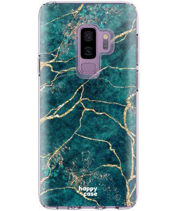 HappyCase Samsung Galaxy S9 Plus Flexibel TPU Hoesje Aqua Marmer Print Hoesjes