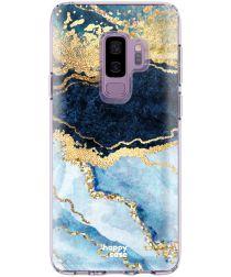 HappyCase Samsung Galaxy S9 Plus Flexibel TPU Hoesje Blauw Marmer