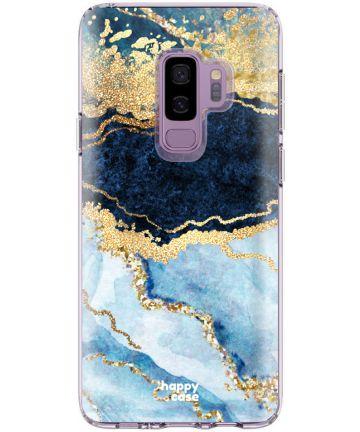 HappyCase Samsung Galaxy S9 Plus Flexibel TPU Hoesje Blauw Marmer Hoesjes
