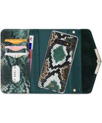Mobilize Velvet Clutch Samsung Galaxy S10 Hoesje Green Snake