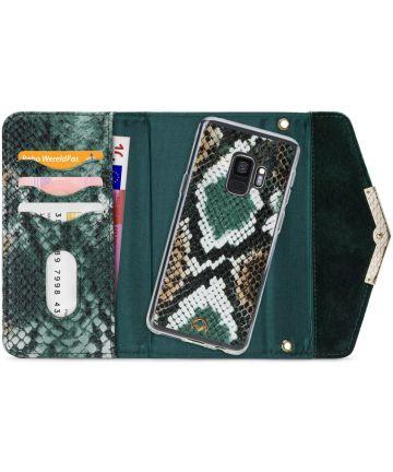 Mobilize Velvet Clutch Samsung Galaxy S9 Hoesje Green Snake Hoesjes