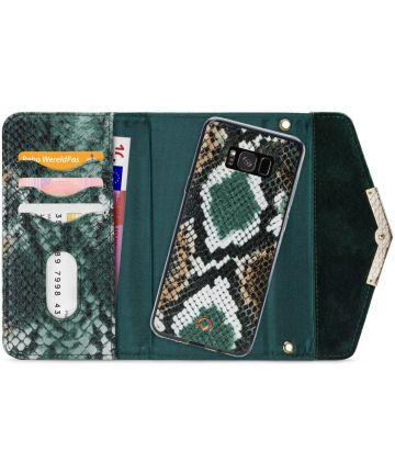Mobilize Velvet Clutch Samsung Galaxy S8 Hoesje Green Snake Hoesjes