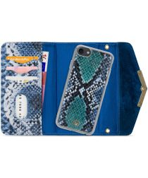 Mobilize Velvet Clutch Apple iPhone SE 2020 / 8 / 7 Hoesje Blue