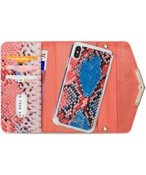 Mobilize Velvet Clutch Apple iPhone XS / X Hoesje Coral Snake