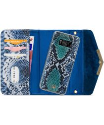 Mobilize Velvet Clutch Samsung Galaxy S8 Hoesje Royal Blue Snake