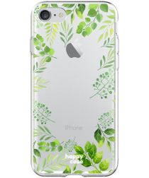 HappyCase Apple iPhone 8 Flexibel TPU Hoesje Leaves Print