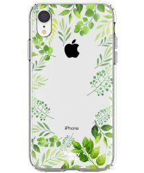 HappyCase Apple iPhone XR Hoesje Flexibel TPU Leaves Print