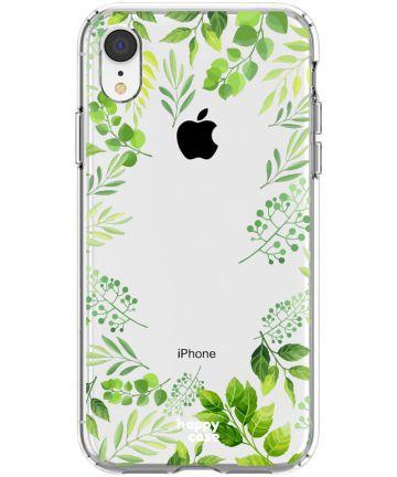 HappyCase Apple iPhone XR Hoesje Flexibel TPU Leaves Print Hoesjes