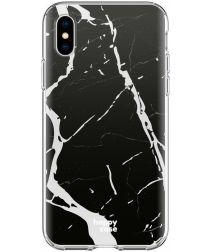 HappyCase Apple iPhone XS Flexibel TPU Hoesje Marmer Print