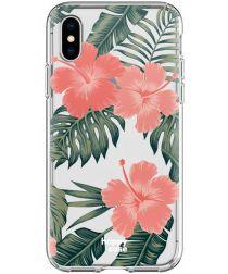 HappyCase Apple iPhone XS Flexibel TPU Hoesje Tropic Vibe Print