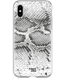 HappyCase Apple iPhone XS Flexibel TPU Hoesje Slangen Print