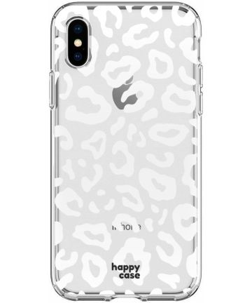 HappyCase Apple iPhone XS Flexibel TPU Hoesje Luipaard Print