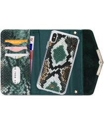 Mobilize Velvet Clutch Apple iPhone XS / X Hoesje Green Snake