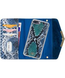 Mobilize Velvet Clutch Apple iPhone 8 / 7 / 6 Plus Hoesje Blue Snake