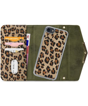 Mobilize Velvet Clutch Apple iPhone SE 2020 / 8 / 7 Hoesje Luipaard Hoesjes