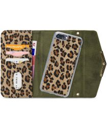 Mobilize Velvet Clutch Apple iPhone 8 / 7 Plus Hoesje Green Leopard