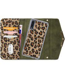 Mobilize Velvet Clutch Samsung Galaxy A50 Hoesje Green Leopard