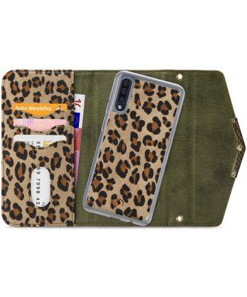 Mobilize Velvet Clutch Samsung Galaxy A50 Hoesje Green Leopard Hoesjes