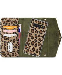 Mobilize Velvet Clutch Samsung Galaxy S10 Hoesje Green Leopard