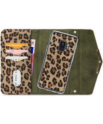 Mobilize Velvet Clutch Samsung Galaxy S9 Hoesje Green Leopard Hoesjes