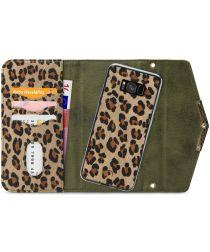 Mobilize Velvet Clutch Samsung Galaxy S8 Hoesje Green Leopard