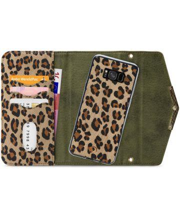 Mobilize Velvet Clutch Samsung Galaxy S8 Hoesje Green Leopard Hoesjes