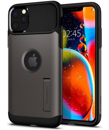 Spigen Slim Armor Apple iPhone 11 Pro Hoesje Gunmetal Hoesjes