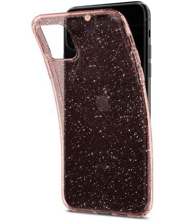 Spigen Liquid Crystal Apple iPhone 11 Pro Hoesje Glitter Roze Goud Hoesjes