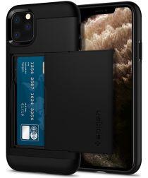 Spigen Slim Armor Hoesje Kaarthouder Apple iPhone 11 Pro Zwart