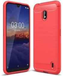 Nokia 2.2 Geborsteld TPU Hoesje Rood