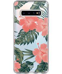 HappyCase Galaxy S10 Plus Flexibel TPU Hoesje Tropic Vibe Print