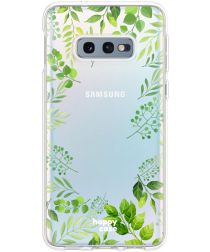 HappyCase Galaxy S10E Flexibel TPU Hoesje Leaves Print