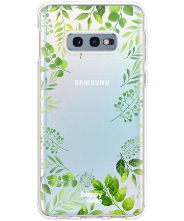 HappyCase Galaxy S10E Flexibel TPU Hoesje Leaves Print Hoesjes