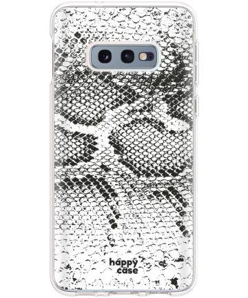 HappyCase Galaxy S10E Flexibel TPU Hoesje Slangen Print Hoesjes