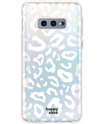 HappyCase Galaxy S10E Flexibel TPU Hoesje Luipaard Print Hoesjes