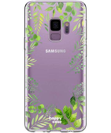 HappyCase Galaxy S9 Flexibel TPU Hoesje Leaves Print Hoesjes