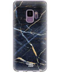 HappyCase Galaxy S9 Flexibel TPU Hoesje Donker Marmer Print