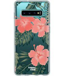 HappyCase Galaxy S10 Flexibel TPU Hoesje Tropic Vibe print