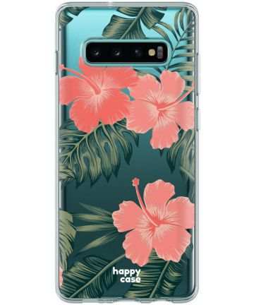 HappyCase Galaxy S10 Flexibel TPU Hoesje Tropic Vibe print Hoesjes