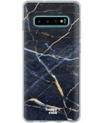HappyCase Galaxy S10 Flexibel TPU Hoesje Donker Marmer Print