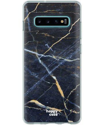HappyCase Galaxy S10 Flexibel TPU Hoesje Donker Marmer Print Hoesjes