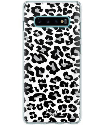 HappyCase Galaxy S10 Flexibel TPU Hoesje Panter Print Hoesjes