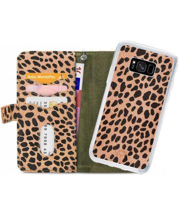 Mobilize Gelly Wallet Zipper Samsung Galaxy S8 Hoesje Olive Leopard