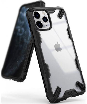 Ringke Fusion X Apple iPhone 11 Pro Max Hoesje Transparant / Zwart Hoesjes