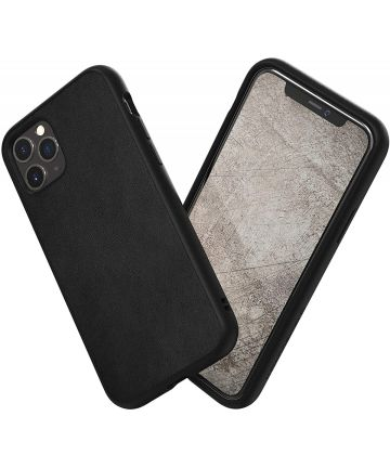 RhinoShield SolidSuit Apple iPhone 11 Pro Max Hoesje Leer Zwart Hoesjes