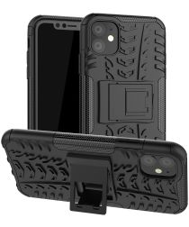 Apple iPhone 11 Hoesje Robuust Hybride Zwart