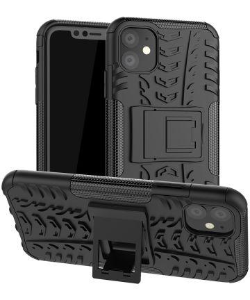 Apple iPhone 11 Hoesje Robuust Hybride Zwart Hoesjes